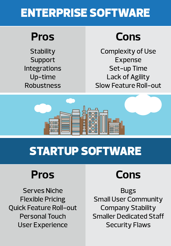 enterprise vs startup software